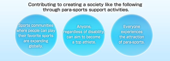 Sports communities where people can play their favorite sports are expanding globally.  Anyone, regardless of disability, can aim to become a top athlete. Everyone experiences the attraction of para-sports.