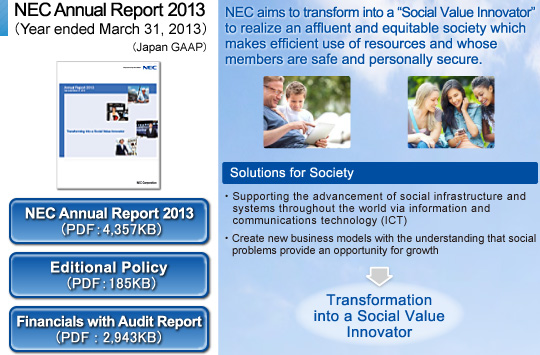 NEC Annual Report 2013  (Year ended March 31, 2013)