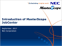 Introduction of MasterScope JobCenter