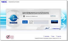 e-Helpdesk Service Login Window