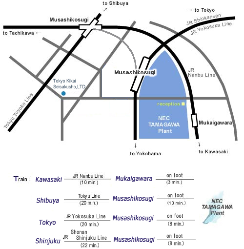 Map of Tamagawa Plant / Access