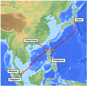 Complete Map Of Asia.Nec And Fujitsu Complete Asia Submarine Cable Express Ase Press