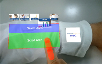 NEC's ARmKeypad Air in operation