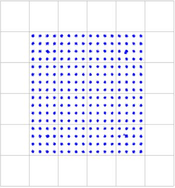 256QAM demodulated signal at 100m transmission